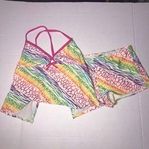 Joe Boxer Swimsuit Set Girl's Size 16